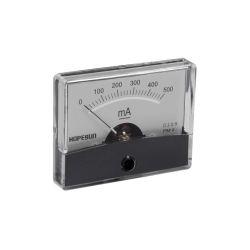 AMPEREMETRE ANALOGIQUE DE TABLEAU 500mA CC / 60X47mm (100150)