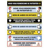 Balisage Stickers pour SOL moquette