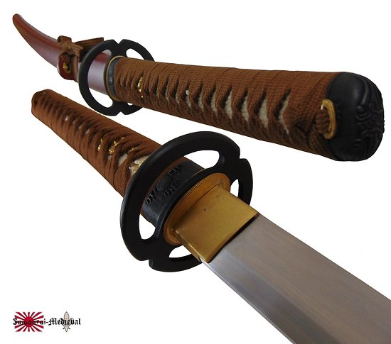 Katana Miyamoto Musashi brun