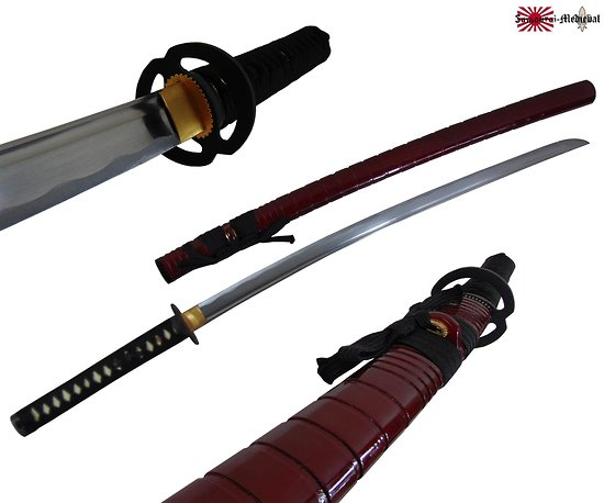 Katana forge bambou bordeau