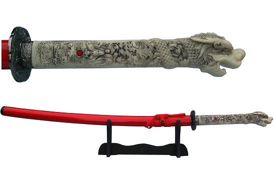 Katana poignée dragon