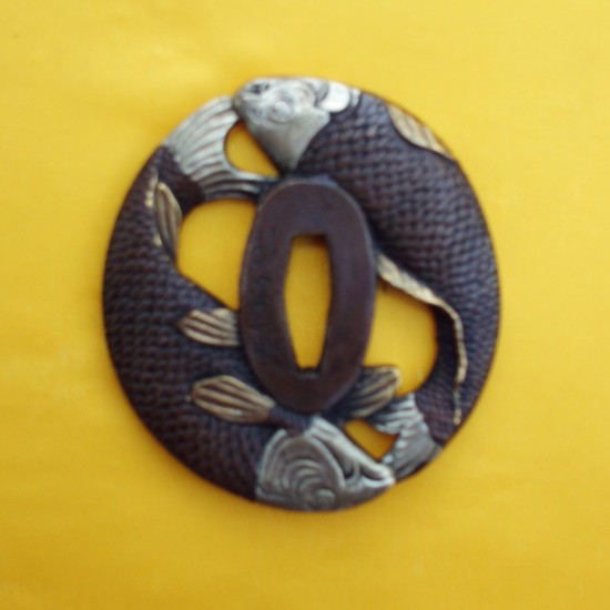 Tsuba carpe koi for Carpe koi belgique