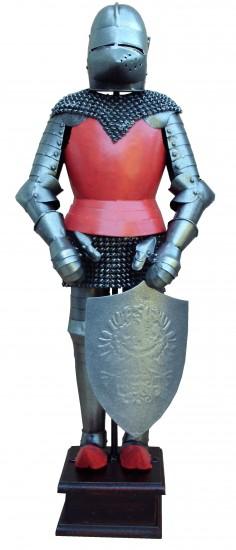 Armure médiévale avec bouclier