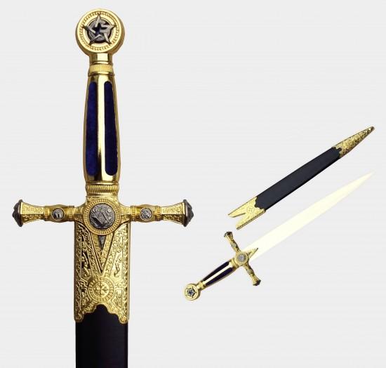 Grande dague maçonnique bleu
