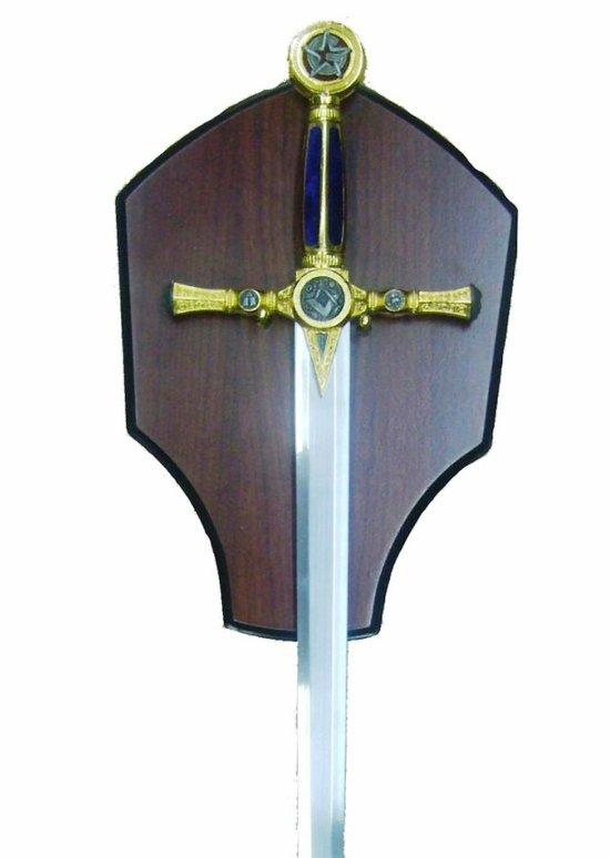 Epée maçonnique bleu