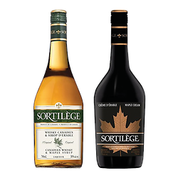 Cream and Canadian whiskey duo with maple syrup - Sortilège