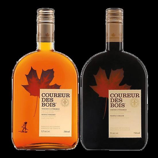 Duo whisky et crème au sirop d'érable - Coureur des bois