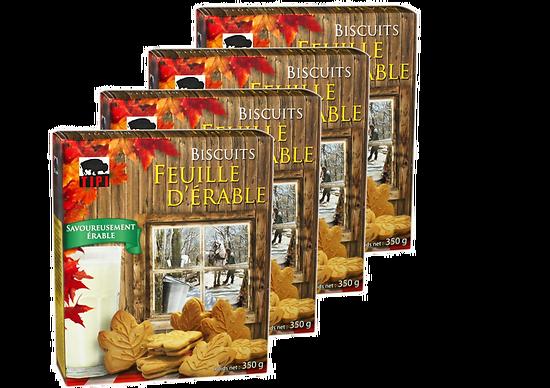 Lot Biscuits feuille d'érable