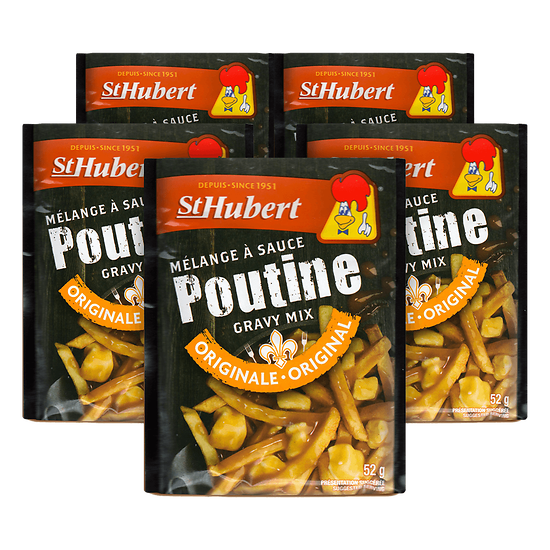 Lot de 5 mélanges à sauce poutine St Hubert