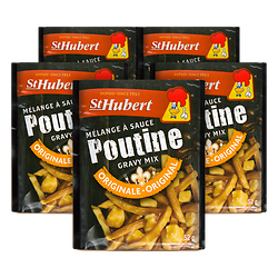 Lot of 5 St Hubert poutine sauce mixes