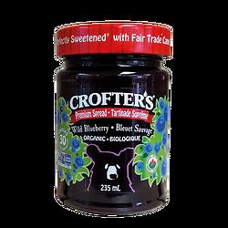 Confiture de bleuet sauvage biologique Crofters