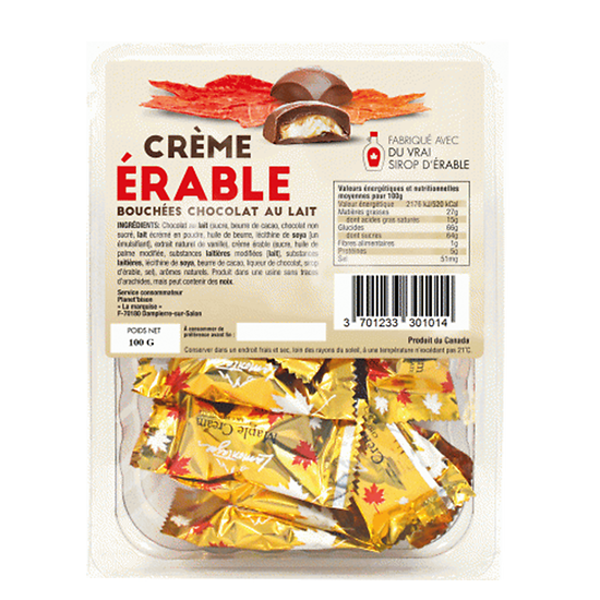 Maple Cream Milk Chocolate Bites