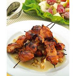 Brochettes de poulet à la crème d'érable