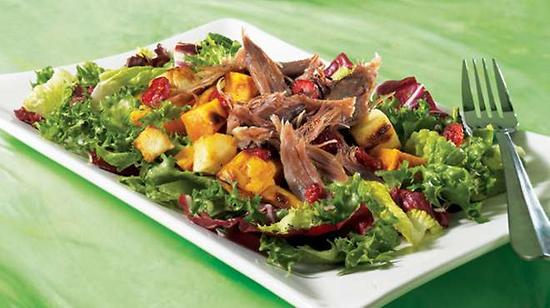 Salade de canard confit à l'érable