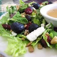 Salade sucrée érable noix Bleuets Fromage de chèvre