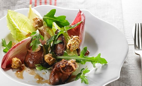 Salade de foie de volaille au sirop d'érable