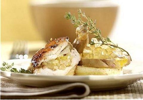 Suprême de faisan givré au foie gras