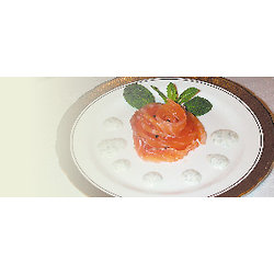Gravlax de saumon givré