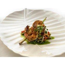 Brochettes de crevettes marinées à l'érable