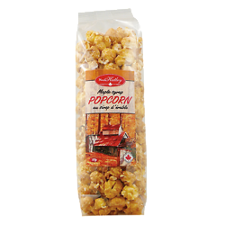 Popcorn with pure maple syrup