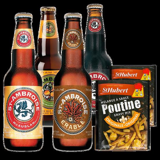 Kit Poutine - Mélange Sauce Poutine & Bière Canadienne (Saint Ambroise)