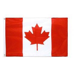 Drapeau du Canada en tissu avec œillets