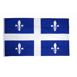 Drapeau du Québec en tissu avec œillets