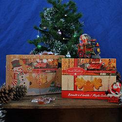 Coffret de Noel - Biscuit et bonbons à l'érable