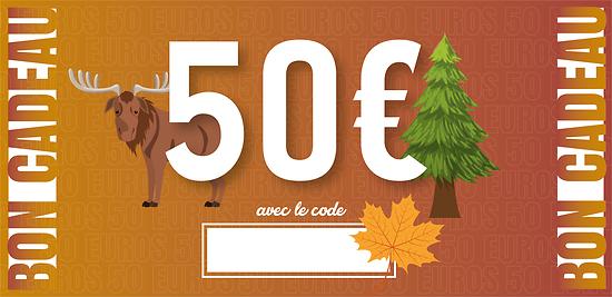 Bon Cadeau - 50 euros