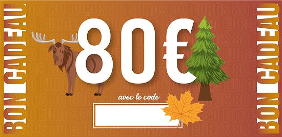 Bon Cadeau - 80 euros