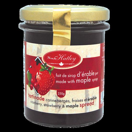 Confiture de canneberges, fraises et érable
