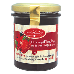 Cranberry, strawberry and maple jam