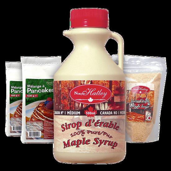 Grand Kit Pancakes - Sirop & Sucre d'érable