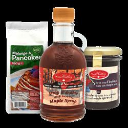 Kit Pancake - Sirop d'érable & Confiture de Bleuet