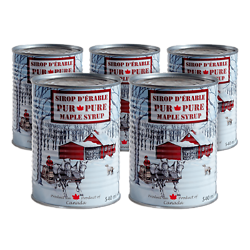 Pack de 5 - Sirop d'érable - Canne Métal