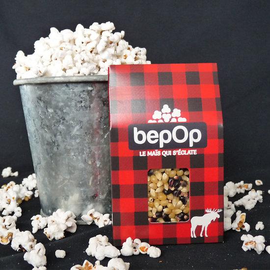Kit à pop corn bepOp - Emballage triple - Sel aux herbes / Mucho Nacho / Sucre à la cannelle