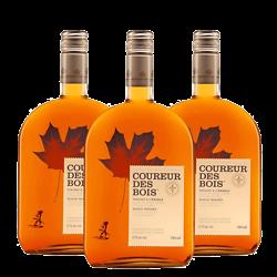 Lot de 3 Whisky Canadien à l'érable - Coureur des Bois