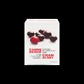 Boîte de canneberges enrobées de chocolat noir