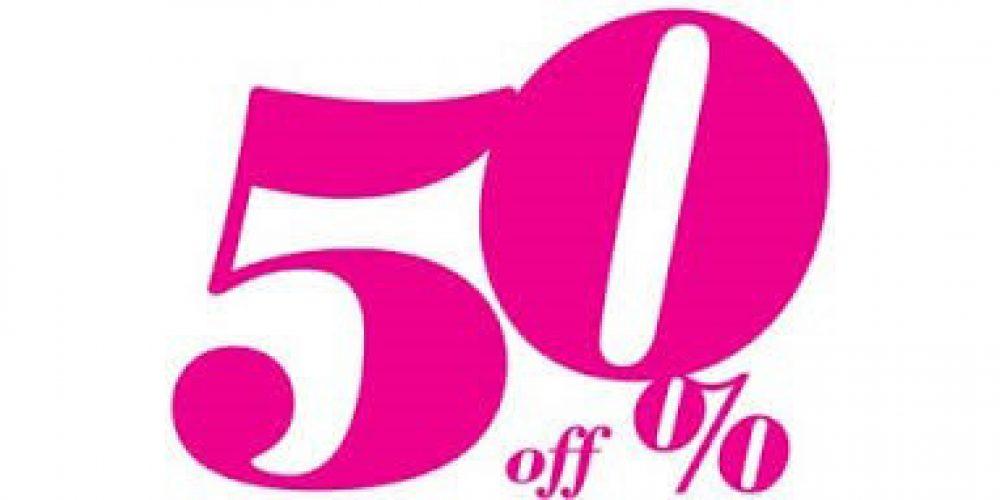 50% sur tout le site