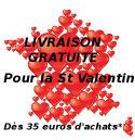 livraison gratuite st Valentin