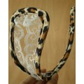 C String fendu léopard et dentelle
