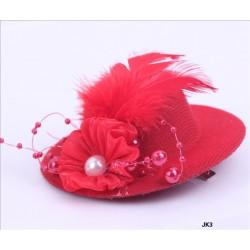 mini chapeau perles