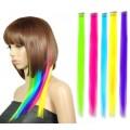 mèches colorés de cheveux synthétiques