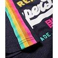 T-Shirt À Manches Rayées Et Logo Vintage