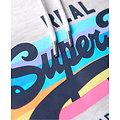 Sweat À Capuche Arc-En-Ciel Rétro À Logo Vintage