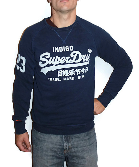 SWEAT VINTAGE LOGO TRUE INDIGO CREW