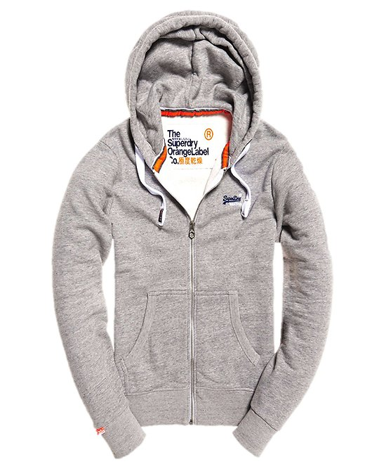 SWEAT ORANGE LABEL ZIPHOOD