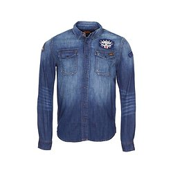 CHEMISE DRAGWAY PATCH DENIM