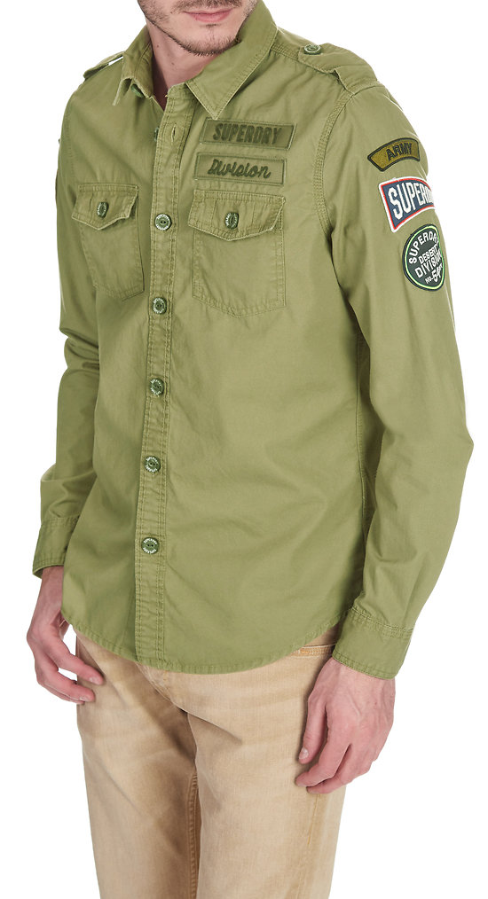 CHEMISE SUPERDRY ARMY CORPS LITE