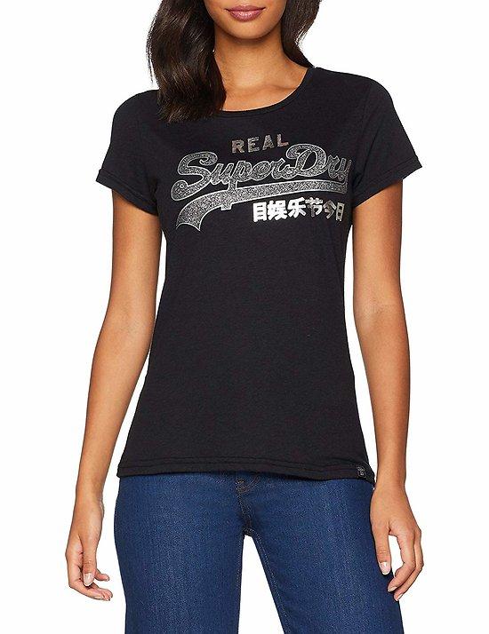 T-Shirt Brillant À Logo Vintage